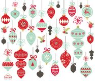Christmas Ornament Collections. A illustration of Christmas Ornament Collections. Perfect for Christmas theme, greeting card, scrapbooking, web design and many Royalty Free Stock Image