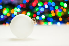 Christmas Ornament with Color Bokeh Royalty Free Stock Images
