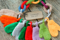 Christmas ornament, colorful, mitten, Xmas, glove Royalty Free Stock Photography