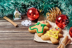 Christmas ornament and cookies Stock Photography