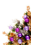 Christmas Ornament Corner Decoration Series Royalty Free Stock Photos