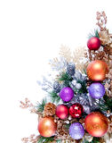 Christmas Ornament Corner Decoration Series Stock Photography