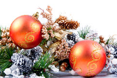 Christmas Ornament Corner Decoration Series royalty free stock photography