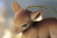 Christmas decoration, ornament of a deer for the Christmas tree. Stock Photos