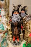 Christmas ornament depicting Santa Claus or Krampus on display in a store. Christmas ornament depicting Santa Claus or Krampus on display for sale in a store royalty free stock images