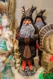Christmas ornament depicting Santa Claus or Krampus on display i. Christmas ornament depicting Santa Claus or Krampus on display for sale in a store royalty free stock photos