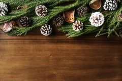 Christmas ornament design space wallpaper Stock Photo