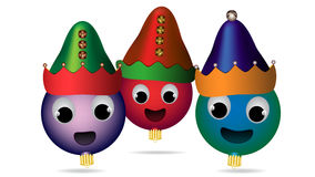 Christmas ornament elves Stock Images