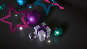 Christmas Ornament Empty Space For Text on Dark Background Royalty Free Stock Image