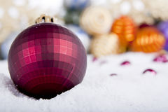 Christmas Ornament  On Fake Snow Royalty Free Stock Photo