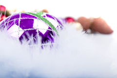 Christmas Ornament On feather royalty free stock photo