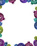 Christmas ornament frame. Holiday ornaments background/frame Royalty Free Stock Photography