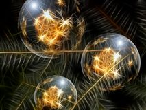Christmas Ornament, Glaskugeln Stock Image