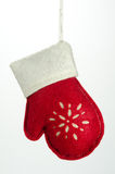 Christmas Ornament Glove with White Trim Royalty Free Stock Image
