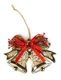 Christmas ornament, golden bells Stock Images