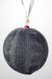 Christmas Ornament Gray Sweater Ball Stock Photography