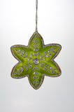 Christmas Ornament Green Cloth Star Stock Image