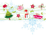 Christmas ornament greeting card Royalty Free Stock Photos