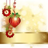Christmas Ornament Greeting Card Royalty Free Stock Photos