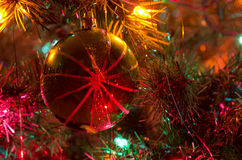 Christmas Ornament Hanging on a Christmas Tree Royalty Free Stock Image