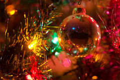 Christmas Ornament Hanging on a Christmas Tree Royalty Free Stock Images