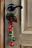 Christmas Ornament hanging from the door Stock Image