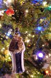 Christmas Ornament Hanging On Tree Stock Image
