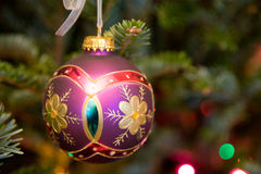 Christmas Ornament Hanging in the Tree Royalty Free Stock Image