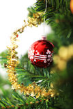 Christmas ornament hanging from a xmas tree branch Stock Photo