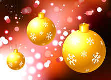 Christmas Ornament on holiday background Royalty Free Stock Photo