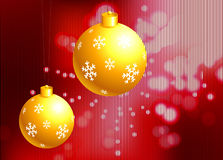 Christmas Ornament on holiday background Royalty Free Stock Photos