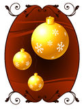 Christmas Ornament on holiday background Stock Image