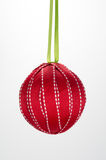 Christmas Ornament Homemade Ball Red Royalty Free Stock Photo