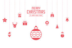 Christmas ornament icons for designs postcard, invitation, poste Royalty Free Stock Photo