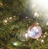 Christmas Ornament With Light Glare stock photos
