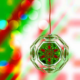 Christmas Ornament On Lights Royalty Free Stock Photos