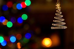 Christmas Ornament And Lights Stock Image
