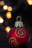 Christmas ornament and lights Stock Photo