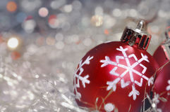 Christmas ornament in lights Stock Photo