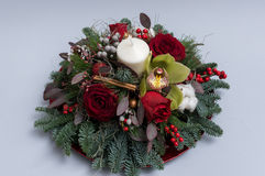 Christmas ornament. Made of natural flowers royalty free stock photos