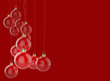 Christmas ornament and merry christmas card Royalty Free Stock Images