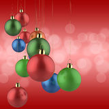 Christmas ornament and merry christmas card Royalty Free Stock Photo