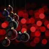 Christmas ornament and merry christmas card Stock Photography