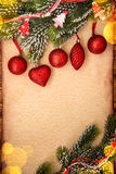 Christmas ornament on paper Stock Photo