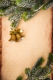 Christmas ornament on paper Stock Images