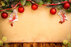 Christmas ornament on paper Royalty Free Stock Images