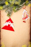 Christmas ornament on paper Royalty Free Stock Photo