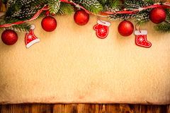 Christmas ornament on paper Stock Photography