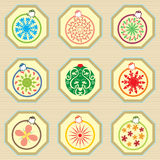 Christmas Ornament Pattern Stock Photography
