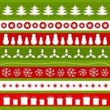 Christmas ornament pattern Stock Photos